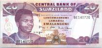 Swaziland 20 Emalangeni Roi Mswati III - Bétail, camion - 2006