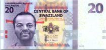 Swaziland 20 Emalangeni Roi Mswati III - Vache et culture 2010