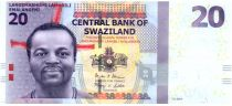 Swaziland 20 Emalangeni Roi Mswati III - Vache et culture 2014