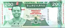 Swaziland 200 Emalangeni Roi Mswati III - 40 ans du Roi - 2008
