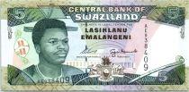 Swaziland 5 Emalangeni Roi Mswati III - Guerriers - 1995
