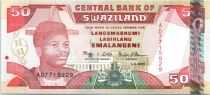 Swaziland 50 Emalangeni Roi Mswati III - Banque Centrale - 2001