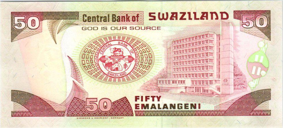 Swaziland 50 Emalangeni Roi Mswati III - Banque Centrale - 2001