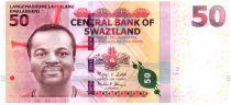 Swaziland 50 Emalangeni Roi Mswati III - Building -  2010