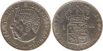 Sweden 1 Krona 1932U - Coat of arms, Gustaf VI - Silver