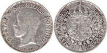 Sweden 1 Krona 1936G - Coat of arms, Gustaf V - Silver
