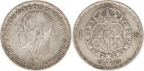 Sweden 1 Krona 1945G - Coat of arms, Gustaf V - Silver
