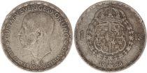 Sweden 1 Krona 1946TS - Coat of arms, Gustaf V - Silver