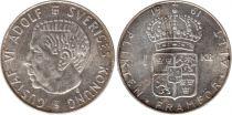 Sweden 1 Krona 1961U - Coat of arms, Gustaf VI - Silver