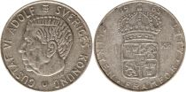 Sweden 1 Krona 1965U - Coat of arms, Gustaf VI - Silver