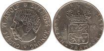Sweden 1 Krona 1967U - Coat of arms, Gustaf VI - Silver