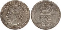 Sweden 1 Krona 1968U - Coat of arms, Gustaf VI - Silver