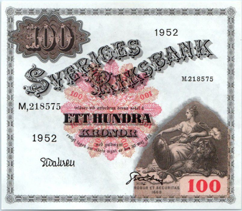 Sweden 100 Kronor Svea - Gustav Vasa
