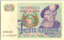 Sweden 5 Kronor Roi Gustaf Vasa - 1966 *