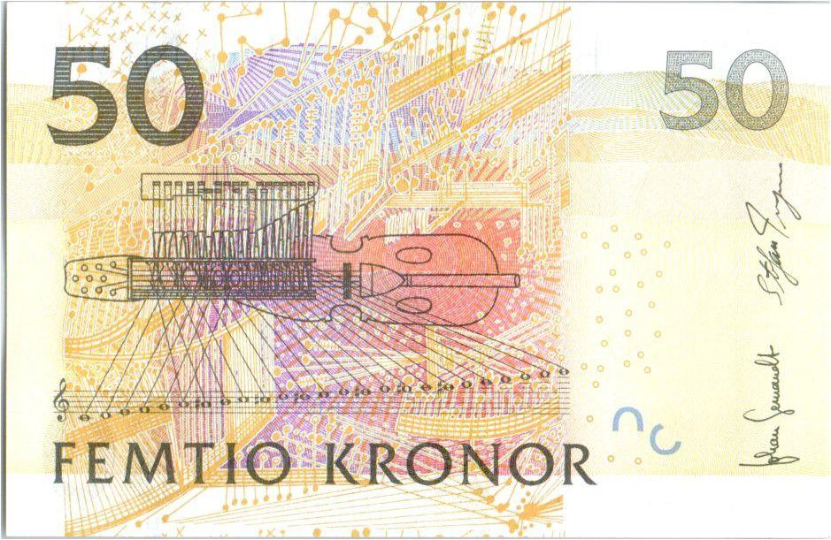 Sweden 50 Kronor Jenny Lind - Violon - 2008
