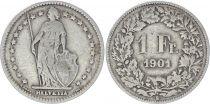 Switzerland 1 Franc Helvetia - 1901 B Bern
