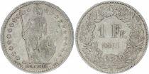 Switzerland 1 Franc Helvetia - 1911 B Bern