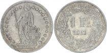 Switzerland 1 Franc Helvetia - 1912 B Bern