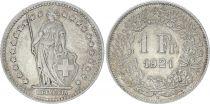Switzerland 1 Franc Helvetia - 1921 B Bern - VF