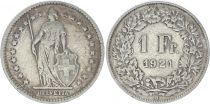 Switzerland 1 Franc Helvetia - 1921 B Bern