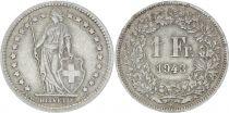 Switzerland 1 Franc Helvetia - 1943 B Bern