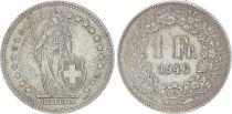 Switzerland 1 Franc Helvetia - 1946 B Bern