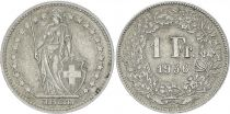 Switzerland 1 Franc Helvetia - 1956 B Bern