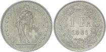 Switzerland 1 Franc Helvetia - 1961 B Bern