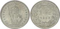 Switzerland 1 Franc Helvetia - 1963 B Bern