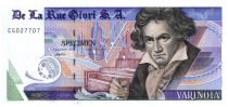 Switzerland 1 Varinota, Test Note - De la Rue Giori - Beethoven - Black Serial