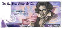 Switzerland 1 Varinota, Test Note - De la Rue Giori - Beethoven - No Serial