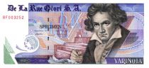 Switzerland 1 Varinota, Test Note - De la Rue Giori - Beethoven - Red Serial