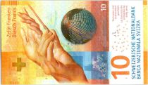 Switzerland 10 Francs Hands of Orchestra conductor - Time -  2017 Hybrid
