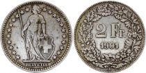 Switzerland 2 Francs  Helvetia - 1901 B