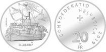 Switzerland 20 Francs - SS Blümlisalp - 2019 Argent