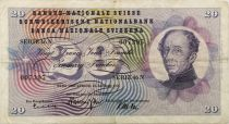 Switzerland 20 Francs Guillaume Henri Dufour - Edelweiss - 21/01/1965 - F to VF