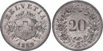 Switzerland 20 Rappen Arms - 1859 B