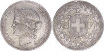 Switzerland 5 Francs Head of woman - 1889 B