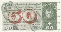 Switzerland 50 Francs Young girl - Harvesting apple - 24/01/1972 - Sign. 42