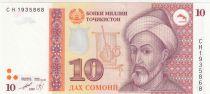 Tadjikistan 10 Somoni 1999 - Saiid Alii Hamadoni