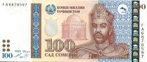 Tadjikistan 100 Somoni I. Somoni - Palais prés. à Dushanbe