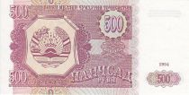 Tadjikistan 500 Roubles Parlement