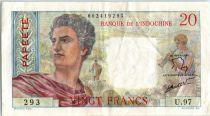 Tahiti 100 Francs Jeune Berger - 1963