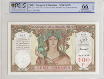 Tahiti 100 Francs ND1952 Specimen - PCGS MS 66 OPQ
