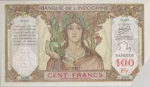 Tahiti 100 Francs ND1952 Spécimen, coin coupé pour annulation - PCGS MS 64