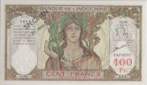 Tahiti 100 Francs ND1961 Spécimen - PCGS MS 64