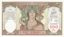 Tahiti 100 Francs Ruines d\'Angkor - 1939 (1957) Spécimen - Série O.00