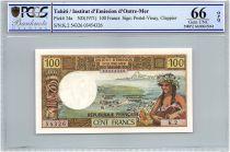 Tahiti 100 Francs Tahitienne - Série K.2 - PCGS UNC 66 OPQ