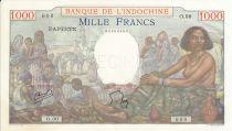 Tahiti 1000 Francs, Femme assise - Spécimen 1940 (1954)