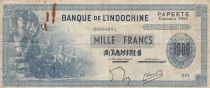 Tahiti 1000 Francs, Statues d\'Angkor - Surcharge Tahiti 1954 Série X.2